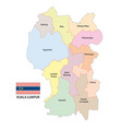 district map malaysian capital kuala lumpur vector image vector image