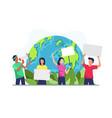 environmental activists vector image