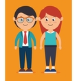 Family colorful cartoon vector image vector image