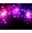Festive lilac firework background vector image vector image
