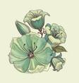 floral bouquet lilies design vector image vector image