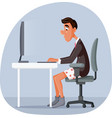 funny business man working from home vector image