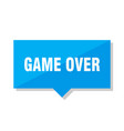 game over price tag vector image vector image