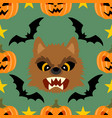 halloween background seamless with werewolf vector image vector image