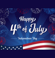 happy 4th july independence day greeting card vector image vector image