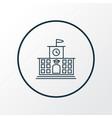 high school icon line symbol premium quality vector image