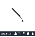 Hypodermic icon flat vector image vector image