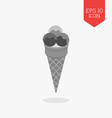 Ice cream icon Flat design gray color symbol vector image