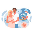 in vitro fertilization with parents people vector image vector image