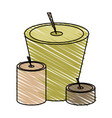 isolated candles design vector image vector image