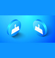 isometric putty knife icon isolated on blue vector image vector image