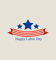 labor day logo flat style vector image vector image