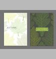 leaf cover template vector image