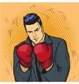 Man in boxing gloves in comic vector image