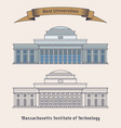 massachusetts institute of technology or mit vector image vector image