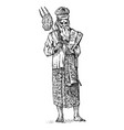 national indian wise man meditates in a bathrobe vector image vector image