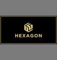 og hexagon logo design inspiration vector image vector image