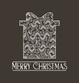 ornament gift classic decoration vector image