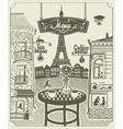 Parisian restaurant vector image vector image