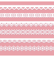 pink background with laces vector image vector image
