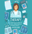 poster of health and medical therapy items vector image vector image