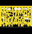 protest people silhouettes set vector image vector image
