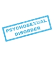 Psychosexual Disorder Rubber Stamp vector image vector image
