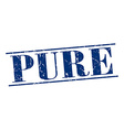pure blue grunge vintage stamp isolated on white vector image vector image