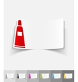 realistic design element cosmetic cream vector image