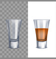 realistic detailed 3d shot glasses set vector image