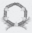 rustic wreath hand drawn vector image vector image