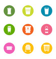 scavenger icons set flat style vector image vector image
