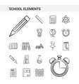 school elements hand drawn icon set style vector image vector image