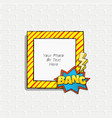 scrapboo template frame vector image vector image