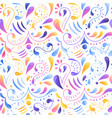 seamless multicolored gradient pattern hand drawn vector image vector image