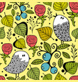 seamless pattern with autumn style nature vector image