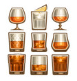 set different glassware vector image