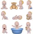 set funny children vector image