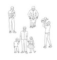 set of fathers with their vector image vector image