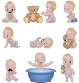 Set of funny children vector image vector image