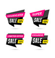 set sale banners isolated on white background vector image