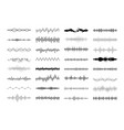set waving vibration and pulsing lines vector image vector image