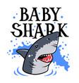 shark t shirt 003 vector image vector image