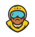 skydiving skydiver athlete cartoon vector image