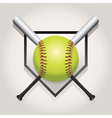 Softball Bat Plate vector image vector image