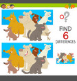 spot the differences with dogs vector image vector image