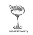 strawberry daiquiri cocktail vector image vector image