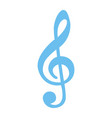 Treble clef flat icon music and instrument