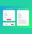 ui elements web subscribe form contact form vector image vector image