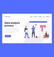 web design flat modern template - data analysis vector image